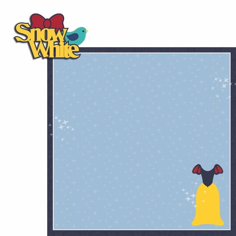 Snow White: Snow White 2 Piece Laser Die Cut Kit
