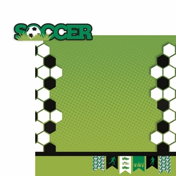 Soccer 2 Piece Laser Die Cut Kit