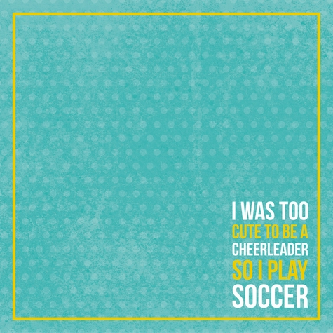 Soccer Champ: Girl With Goals 12 x 12 Paper