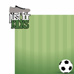 Soccer: Just for Kicks 2 Piece Laser Die Cut Kit