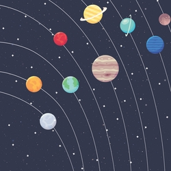 Solar System 12 x 12 Paper