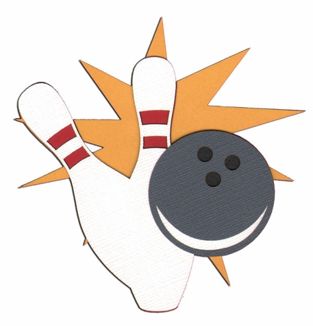 Spare Me: Bowling Ball And Pins Laser Die Cut