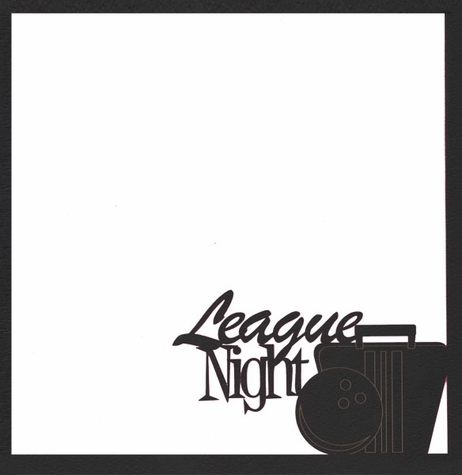 2SYT Spare Me: League Night 12 x 12 Overlay Laser Die Cut