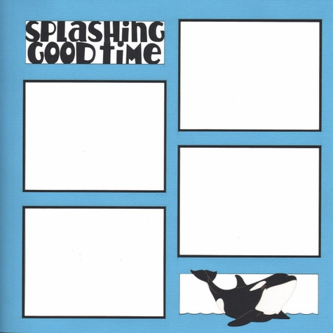 Splashing Good Time 12 x 12 Overlay Laser Die Cut