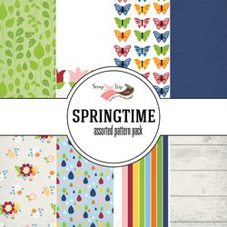 Springtime Assorted 12 x 12 Paper Pack