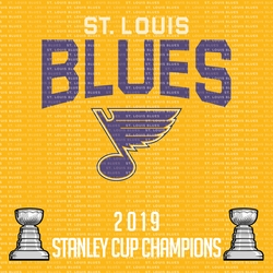 St. Louis Blues 2019 Champs 12 x 12 Paper