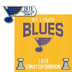 St. Louis Blues 2019 Champs 2 Piece Laser Die Cut Kit