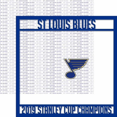 St. Louis Blues 2019 Champs Overlay Quick Page Laser Die Cut
