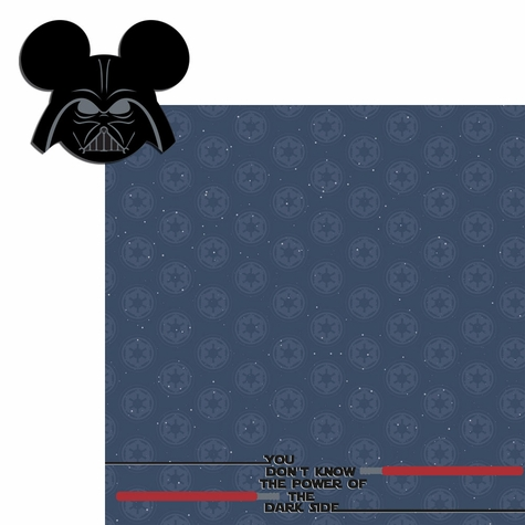 Star Wars: Darth mouse head 2 Piece Laser Die Cut Kit