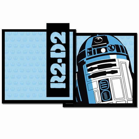 Star Wars: R2-D2 3 Piece Laser Die Cut Kit