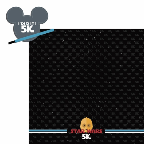 2SYT Star Wars Run: 5k 2 Piece Laser Die Cut Kit