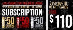 1SYT Subscription: 3 Month Gift Certificate Special