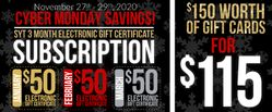 SYT Subscription: 3 Month Gift Certificate Special