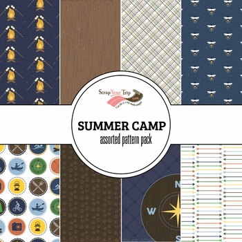 Summer Camp Assorted 12 x 12 Paper Pack