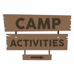 Summer Camp: Camp Activites Laser Die Cut