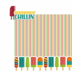 Summer Chillin' 2 Piece Laser Die Cut Kit