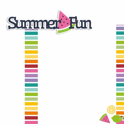 Summer Fun 2 Piece Laser Die Cut Kit