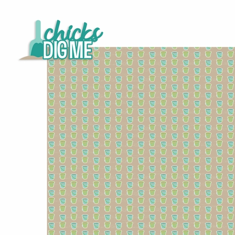 Sun and Sand: Chicks Dig Me 2 Piece Laser Die Cut Kit