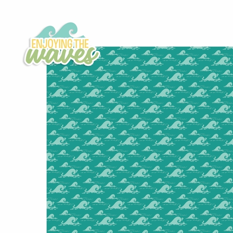 Sun and Sand: Enjoying the waves 2 Piece Laser Die Cut Kit
