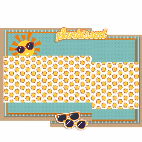 Sunkissed Double Page Print and Cut Kit