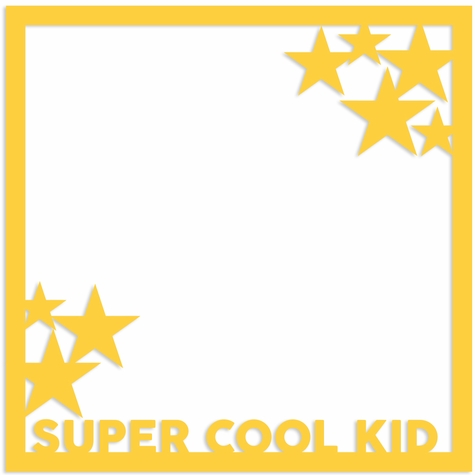 Super Cool Kid 12 x 12 Overlay Laser Die Cut