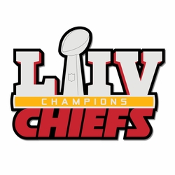 Superbowl LIV Chiefs Champs Laser Die Cut