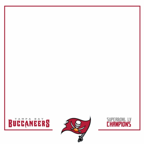 Superbowl LV Bucs Champs 12 x 12 Paper