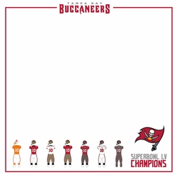 Superbowl LV Bucs Uniforms 12 x 12 Paper