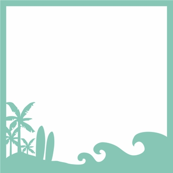 Surf's Up: Surf and Sand 12 x 12 Overlay Laser Die Cut