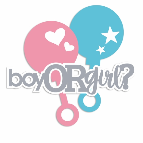 Sweet Baby: Boy or Girl Laser Die Cut