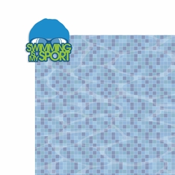 Swim: Swimming is my Sport 2 Piece Laser Die Cut Kit