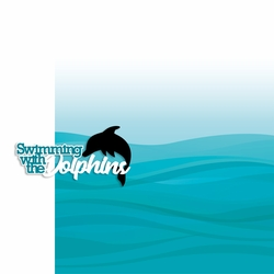 Swimming with Dolphins 2 Piece Laser Die Cut Kit
