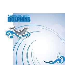 Swimming with Dolphins 2 Piece Print and Cut Kit