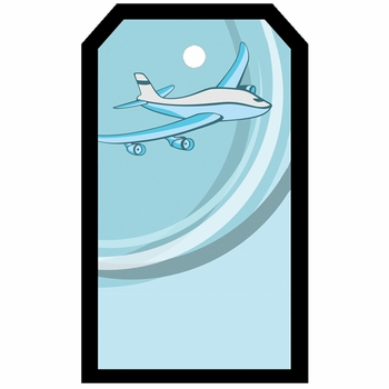 Tag-UR-It Airplane In Blue Photo Tag