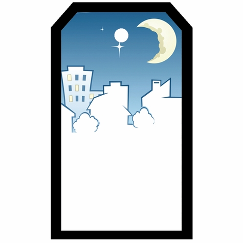 2SYT Tag-UR-It Moonlit Skyline Photo Tag