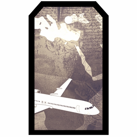 Tag-UR-It Vintage Plane Photo Tag