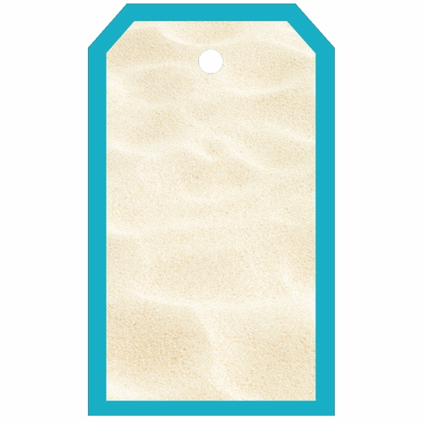 Tag-UR-It White Beach Sand Photo Tag