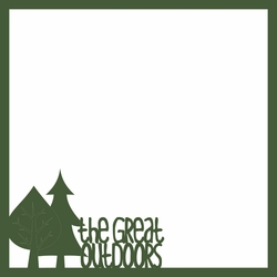Take A Hike: The Great Outdoors 12 x 12 Overlay Laser Die Cut