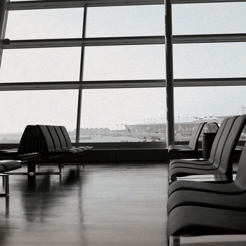 Take Flight: Waiting in the Terminal 12 x 12 Paper