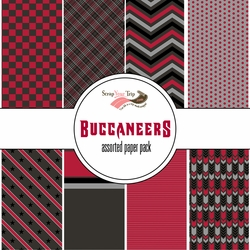 Tampa Bay Buccaneers Pattern 12 x 12 Paper Pack