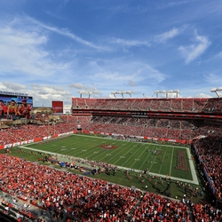 Tampa Bay Buccaneers: Stadium and Logo 12 x 12 Paper