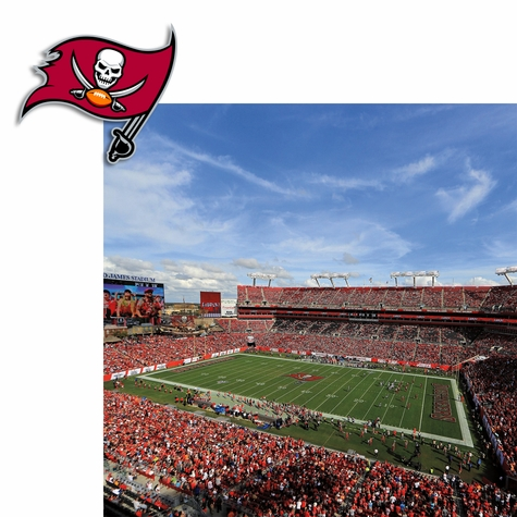 Tampa Bay Buccaneers: Stadium and Logo 2 Piece Print and Cut Kit