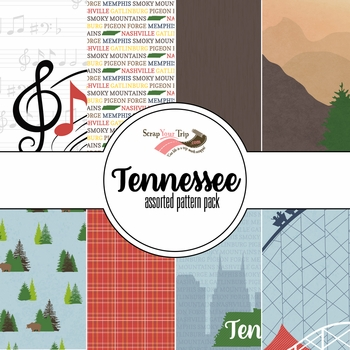 Tennessee Assorted 12 x 12 Paper Pack