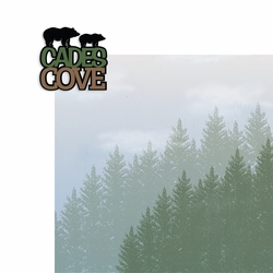 Tennessee: Cades Cove 2 Piece Laser Die Cut Kit