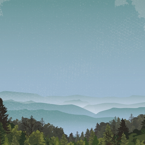 Tennessee: Scenic Overlook 12 x 12 Paper