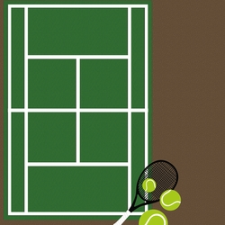 Tennis: Fresh from the Court 12 x 12 Paper