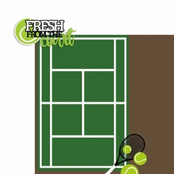 Tennis: Fresh from the Court 2 Piece Laser Die Cut Kit