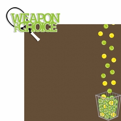 Tennis: Weapon of Choice 2 Piece Laser Die Cut Kit