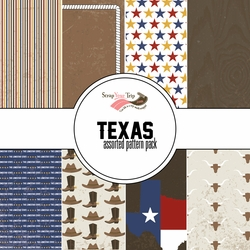 Texas Assorted 12 x 12 Paper Pack