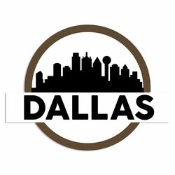 Texas: Dallas Laser Die Cut